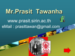 Mr.Prasit Tawanha
