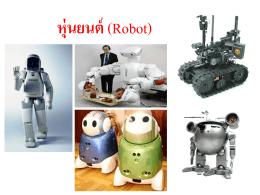 หุ่นยนต์ (Robot)