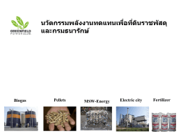 Green Economy for Thailand