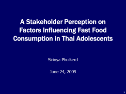 What factors influence food consumption among Thai