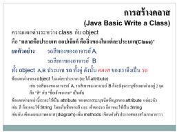 5111306 โปรแกรมภาษาจาวาเบื้องต้น Basic Java Programming 3(2-2-5)