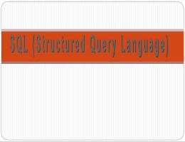 ภาษา SQL