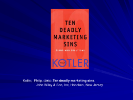 The Deadly Marketing Sins