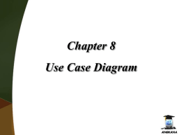 Chapter 8 Use Case Diagram