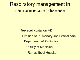 Respiratory management in neuromuscular disease