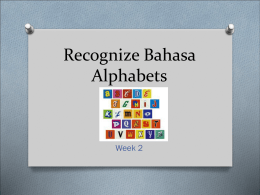Recognize Bahasa language Alphabets