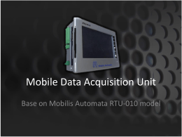 Mobile Data Acquisition Unit