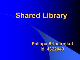 Creating shared library