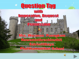 QUESTION TAG Part 5