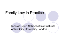 Family Law in Practice