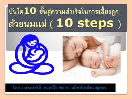 บันได10 ขั้นสู่ความสำเร็จในการเลี้ยงลูก ด้วยนมแม่