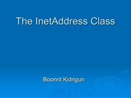 บทที่ 3-The InetAddress Class