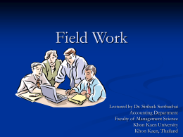 Field Work - home.kku.ac.th