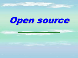 10.Open source - Operating System