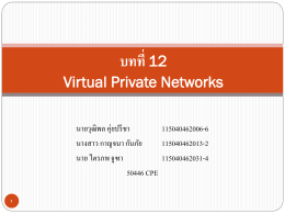 Chapter 12 Virtual Private Networks