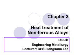 Chapter 3 Heat treatment of Non