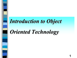 Introduction to Object Oriented Computing