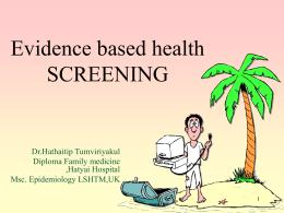 Evidence based health SCREENING