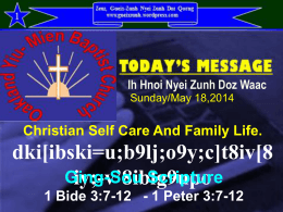 Kuv Hmuangv Doic Godly Family - gueixzunh