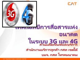เทคโนโลยี 3G - ส่วนผลิตภัณฑ์และบริการ