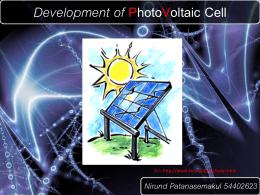 การพัฒนาวัสดุของเซลล์แสงอาทิตย์