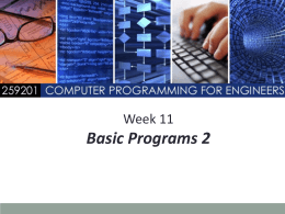 Basic Programs 2