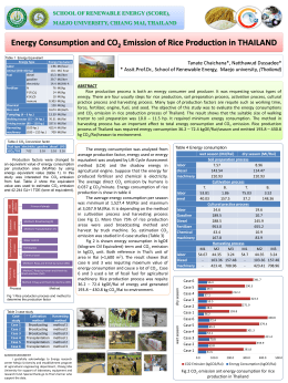 Energy Consumption and CO 2 Emission of Rice - ระบบ E