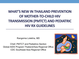 Prevention of Mother-to-Child transmission: An Update