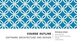 Outline - คณะเทคโนโลยีสารสนเทศและการสื่อสาร มหาวิทยาลัยพะเยา