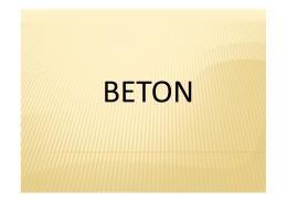 Beton I