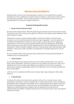 ING Bank Güvenlik Bildirimi