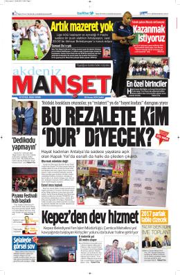 Kazanmak istiyoruz - Antalya Haber - Haberler