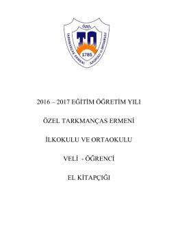 2016-2017 Veli Öğrenci El Kitabı