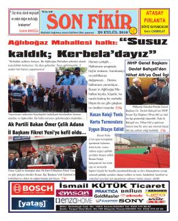 SAYI:529 - Sonfikir Gazetesi