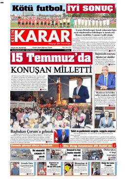 19 Eylül 2016 - Kesin Karar Gazetesi