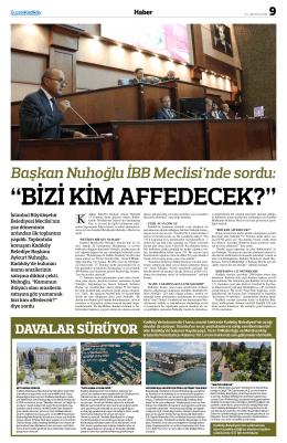 Başkan Nuhoğlu İBB Meclisi`nde sordu