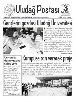 Uludağ Postası 8. sayı (Eylül 2016)
