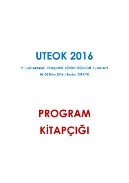 Program - 9. Uluslararası Türkçenin Eğitimi