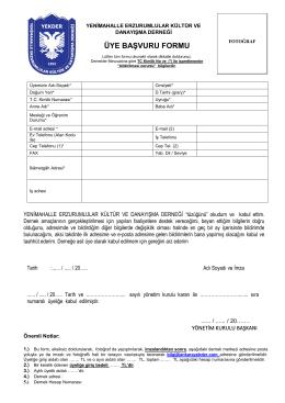 pdf formu indirin - Yenimahalle Erzurumlular Derneği