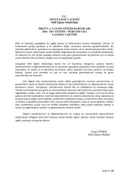 2017 EĞİTİM – Ö - zonguldak il millî eğitim müdürlüğü