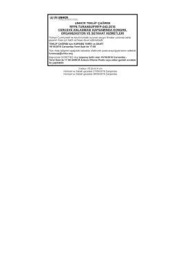 Çerçeve Anlaşması Kapsamında Kongre, Organizasyon