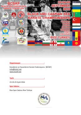 Müsabaka Bülteni - Türkiye Karate Federasyonu