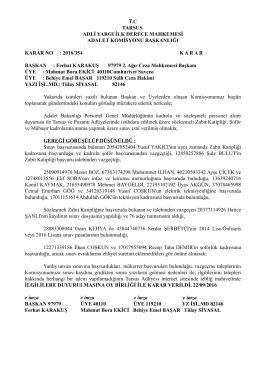 T.C TARSUS ADLİ YARGI İLK DERECE MAHKEMESİ ADALET