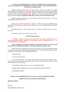 6- Engelli raporu, (engelli raporu vermeye yetkili hastanelerden