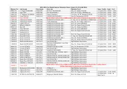 2015-2016 Yaz Okulu Sonrası Mezuniyet Sınav Listesi (21
