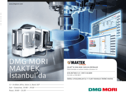 DMG MORI MAKTEK İstanbul`da