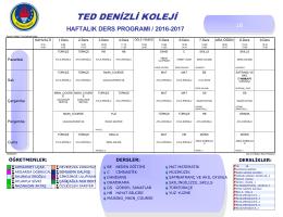 B - TED Denizli Koleji