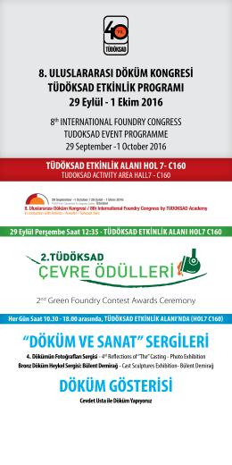 8.Uluslararası Döküm Kongresi Programı