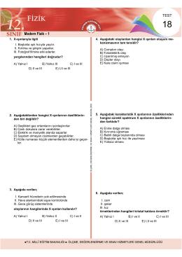 Modern Fizik – 1 - Ölçme, Değerlendirme ve Sınav Hizmetleri Genel
