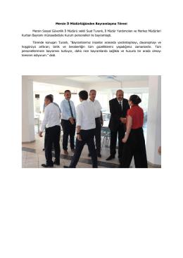 Mersin İl Müdürlüğünden Bayramlaşma Töreni Mersin Sosyal